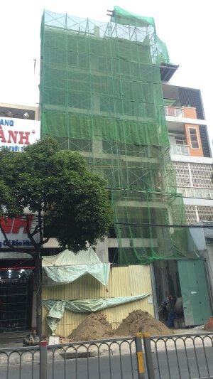 Cho thuê nhà mới 100% MTKD Hòa Bình 9.4x17m 7 tầng( gần Đầm Sen )