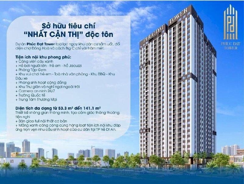 Chỉ 600tr sở hữu ngay căn hộ cao cấp Phúc Đạt Tower, MT QL1K với pháp lý hoàn thiện 100%
